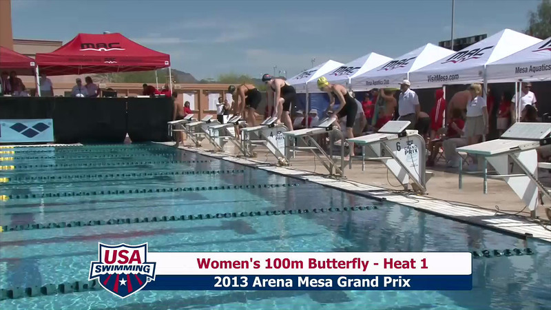 Women's 100m Butterfly Heat 1 - 2013 Arena Mesa Grand Prix