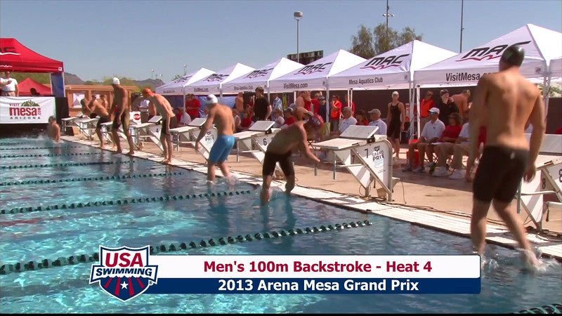 Men's 100m Backstroke Heat 4 - 2013 Arena Mesa Grand Prix