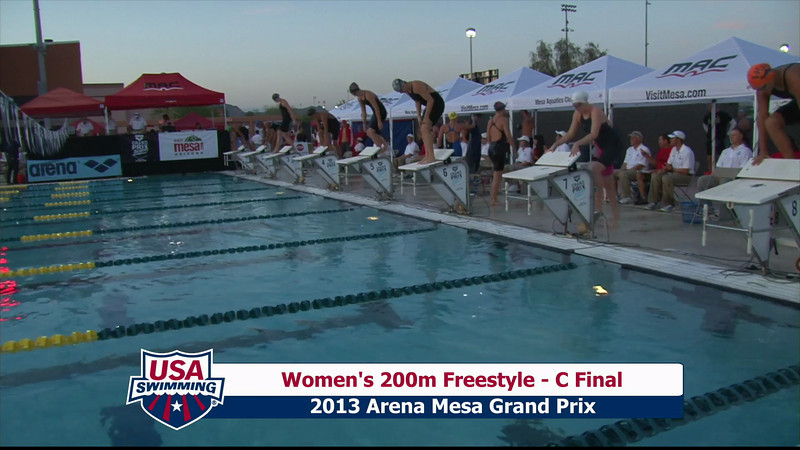 Women's 200m Freestyle C Final - 2013 Arena Mesa Grand Prix
