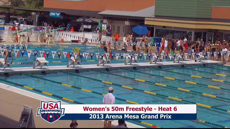 Women's 50m Freestyle Heat 6 - 2013 Arena Mesa Grand Prix