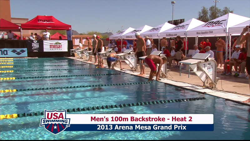 Men's 100m Backstroke Heat 2 - 2013 Arena Mesa Grand Prix