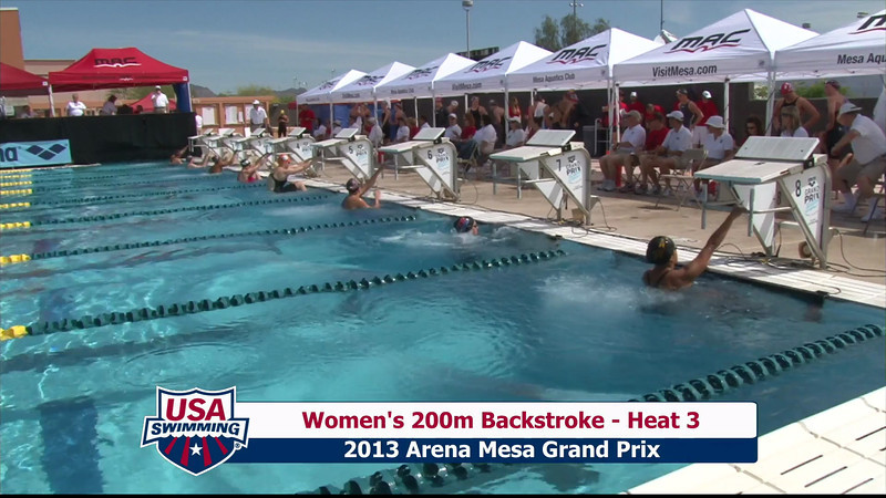 Women's 200m Backstroke Heat 3 - 2013 Arena Mesa Grand Prix