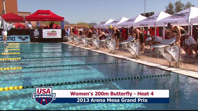 Women's 200m Butterfly Heat 4 - 2013 Arena Mesa Grand Prix