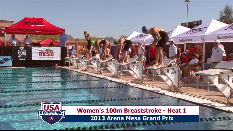 Women's 100m Breaststroke Heat 1 - 2013 Arena Mesa Grand Prix
