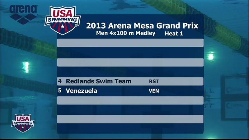Men's 400m Medley Relay - 2013 Arena Mesa Grand Prix