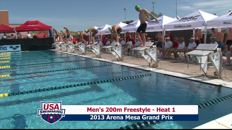 Men's 200m Freestyle Heat 1 - 2013 Arena Mesa Grand Prix