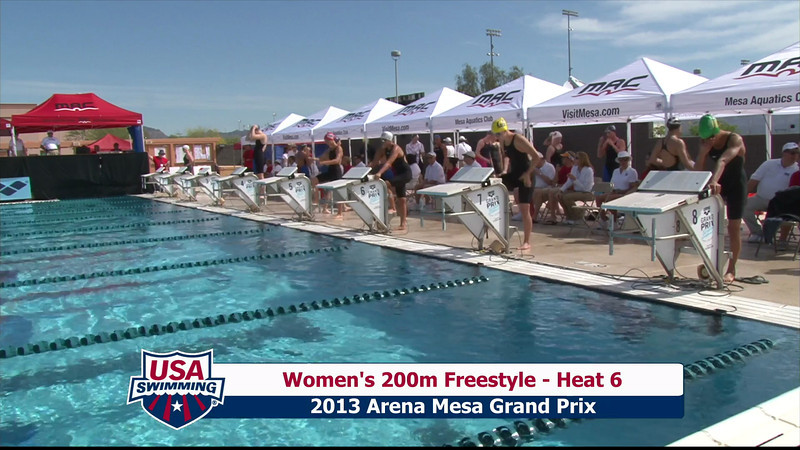 Women's 200m Freestyle Heat 6 - 2013 Arena Mesa Grand Prix