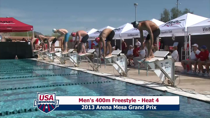 Men's 400m Freestyle Heat 4 - 2013 Arena Mesa Grand Prix