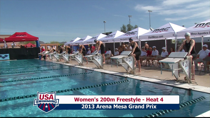 Women's 200m Freestyle Heat 4 - 2013 Arena Mesa Grand Prix