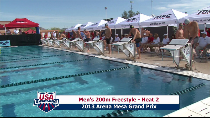 Men's 200m Freestyle Heat 2 - 2013 Arena Mesa Grand Prix