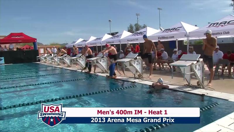 Men's 400m Individual Medley Heat 1 - 2013 Arena Mesa Grand Prix