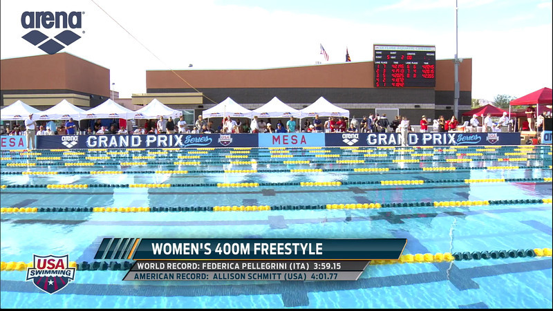 Women's 400m Freestyle A Final - 2013 Arena Mesa Grand Prix