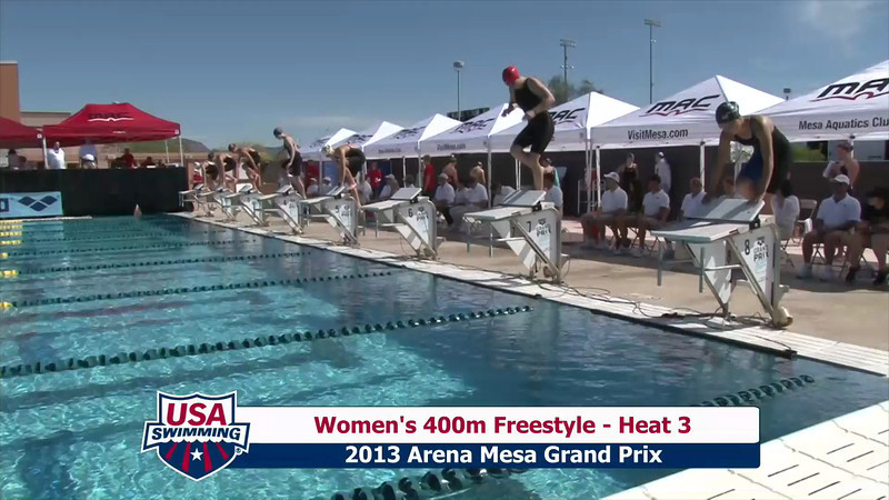 Women's 400m Freestyle Heat 3 - 2013 Arena Mesa Grand Prix