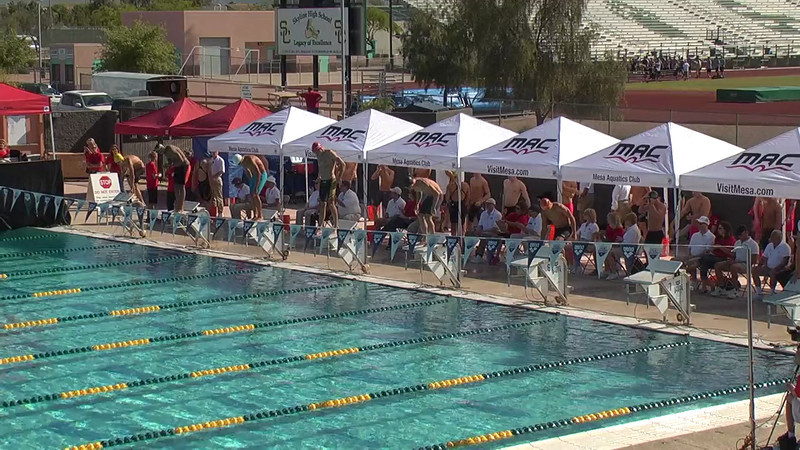 Men's 100m Freestyle Heat 1 - 2013 Arena Mesa Grand Prix