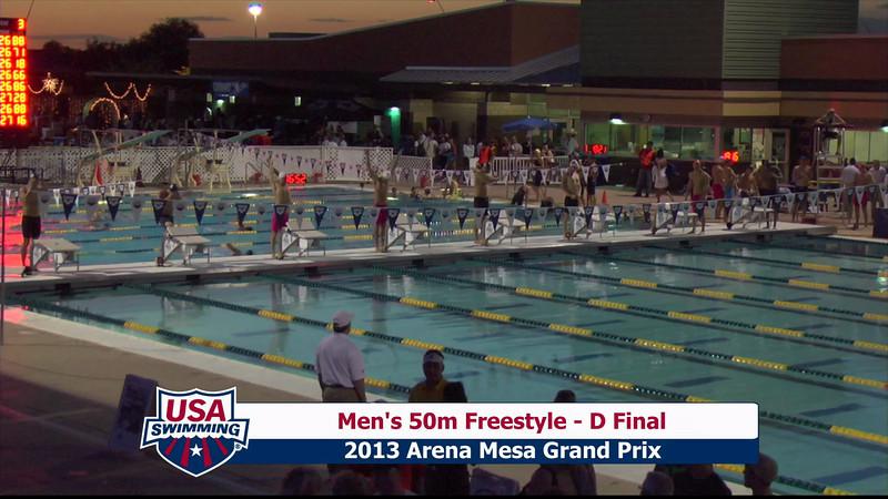 Men's 50m Freestyle D Final - 2013 Arena Mesa Grand Prix