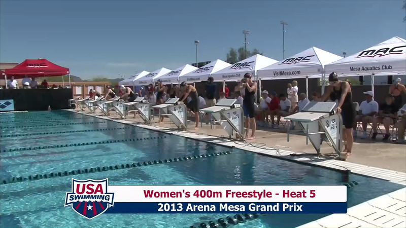 Women's 400m Freestyle Heat 5 - 2013 Arena Mesa Grand Prix
