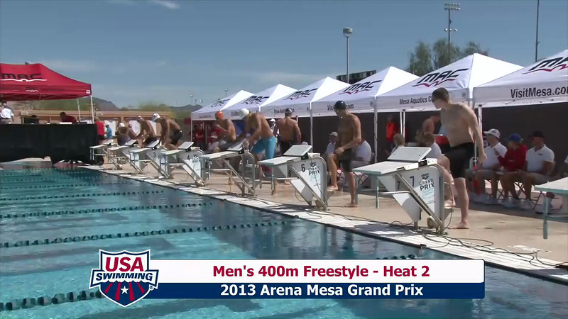 Men's 400m Freestyle Heat 2 - 2013 Arena Mesa Grand Prix