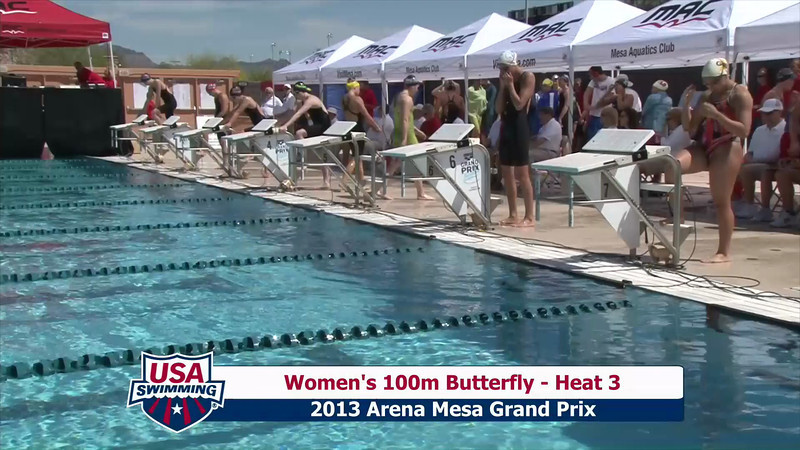 Women's 100m Butterfly Heat 3 - 2013 Arena Mesa Grand Prix