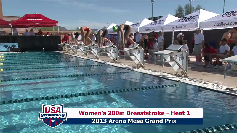 Women's 200m Breaststroke Heat 1 - 2013 Arena Mesa Grand Prix