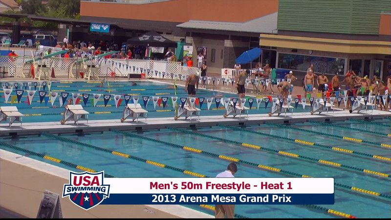 Men's 50m Freestyle Heat 1 - 2013 Arena Mesa Grand Prix
