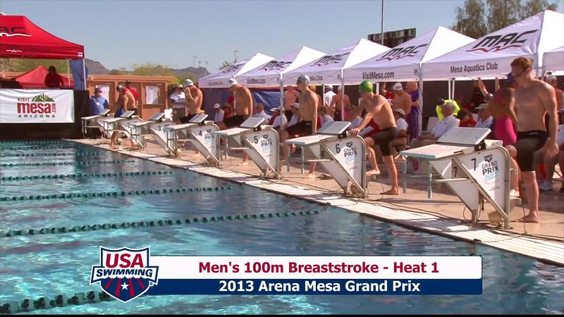 Men's 100m Breaststroke Heat 1 - 2013 Arena Mesa Grand Prix