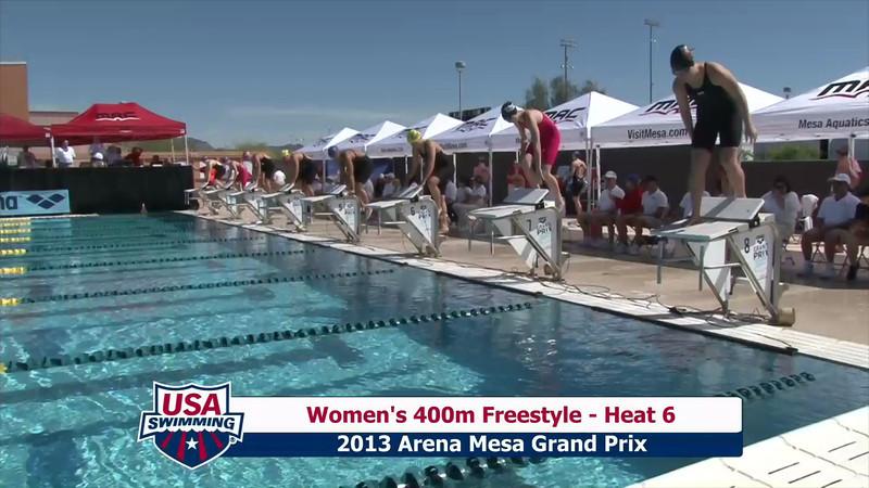 Women's 400m Freestyle Heat 6 - 2013 Arena Mesa Grand Prix
