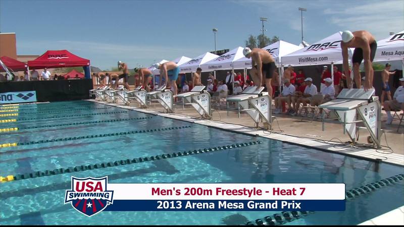 Men's 200m Freestyle Heat 7 - 2013 Arena Mesa Grand Prix