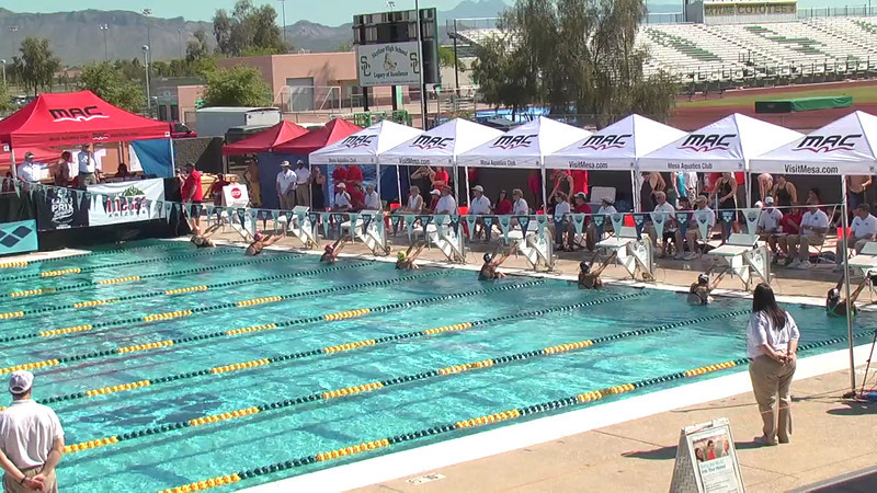 Women's 100m Backstroke Heat 5 - 2013 Arena Mesa Grand Prix