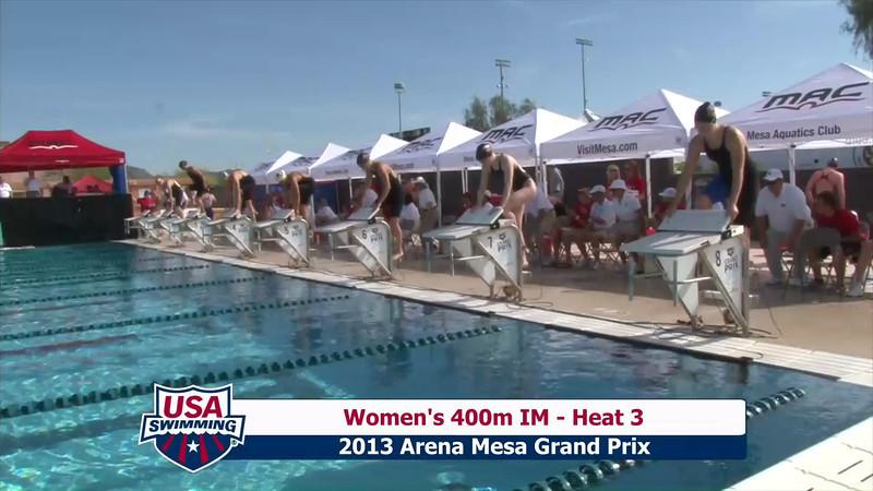 Women's 400m Individual Medley Heat 3 - 2013 Arena Mesa Grand Prix