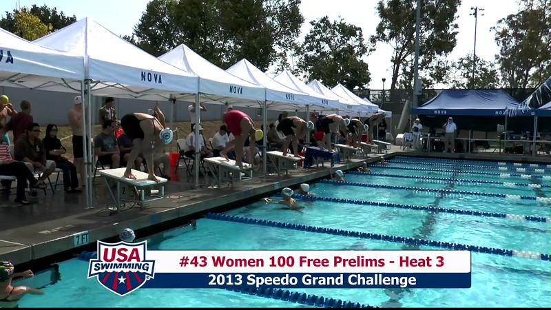 #43 Women 100 Free Heat 3