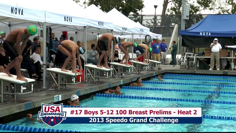#17 Boys 5-12 100 Breast Heat 2