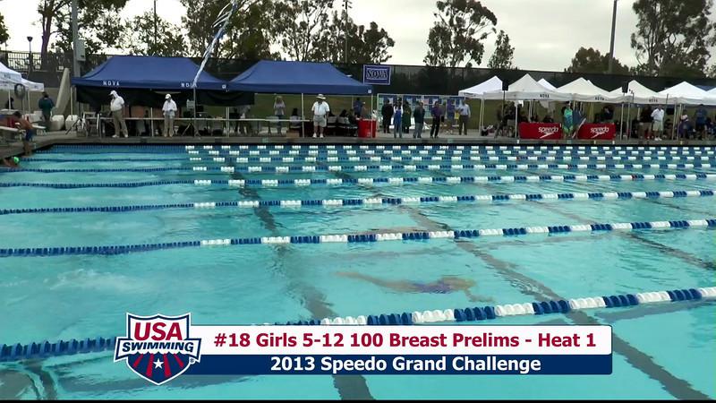 #18 Girls 5-12 100 Breast Heat 1