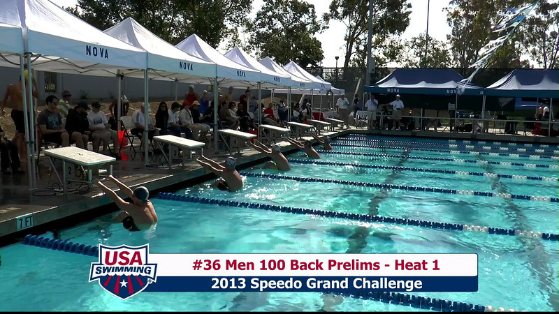 #36 Men 100 Back Heat 1
