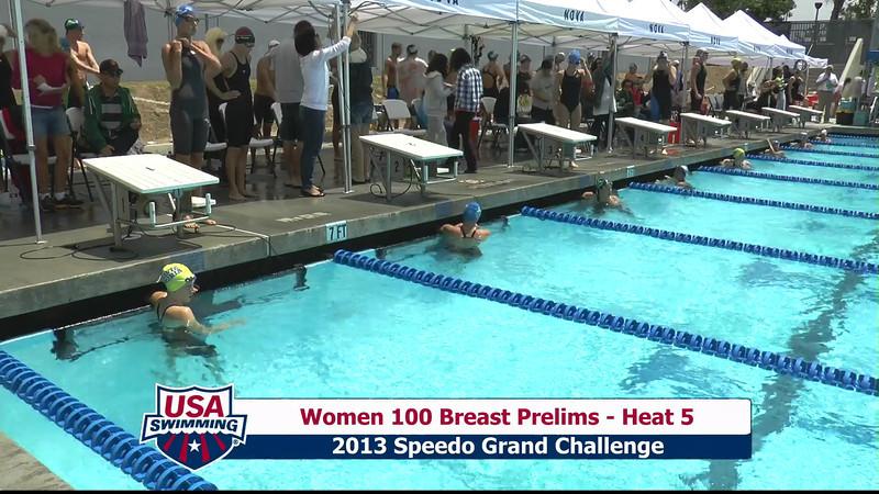 #5 Women 100 Breast Heat 8