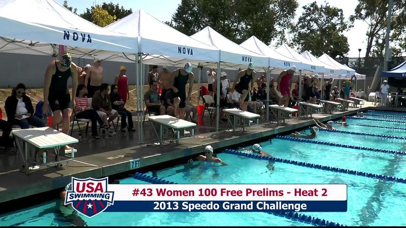 #43 Women 100 Free Heat 2
