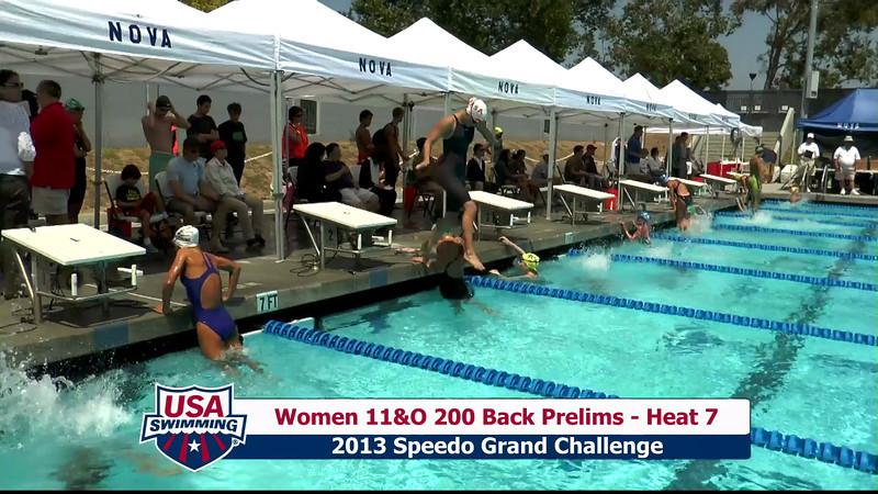 #28 Women 200 Back Heat 11