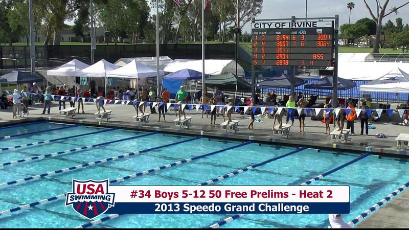 #34 Boys 5-12 50 Free Heat 2