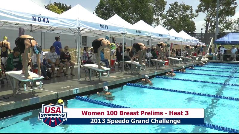 #5 Women 100 Breast Heat 6