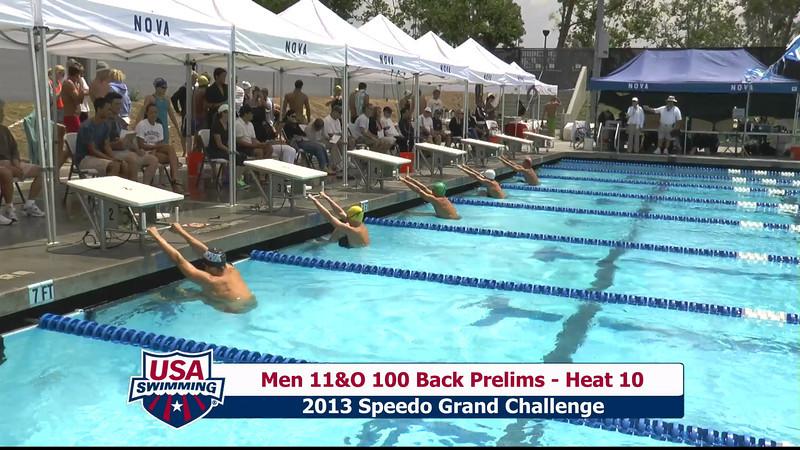 #36 Men 100 Back Heat 11