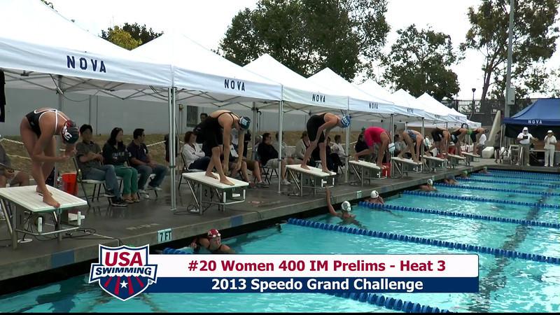 #20 Women 400 IM Heat 3