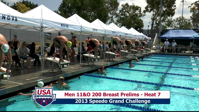 #32 Men 200 Breast Heat 10