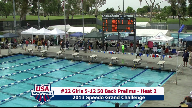 #22 Girls 5-12 50 Back Heat 2