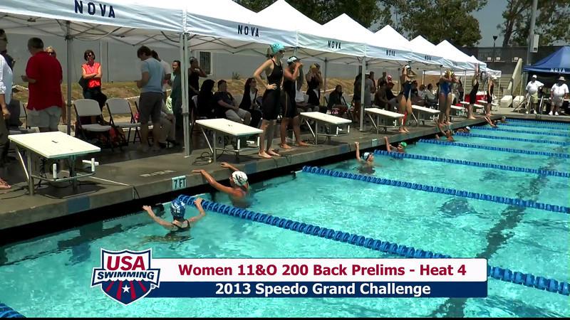 #28 Women 200 Back Heat 8