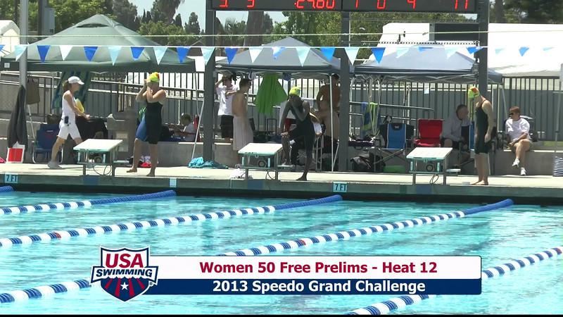#9 Women 50 Free Heat 15