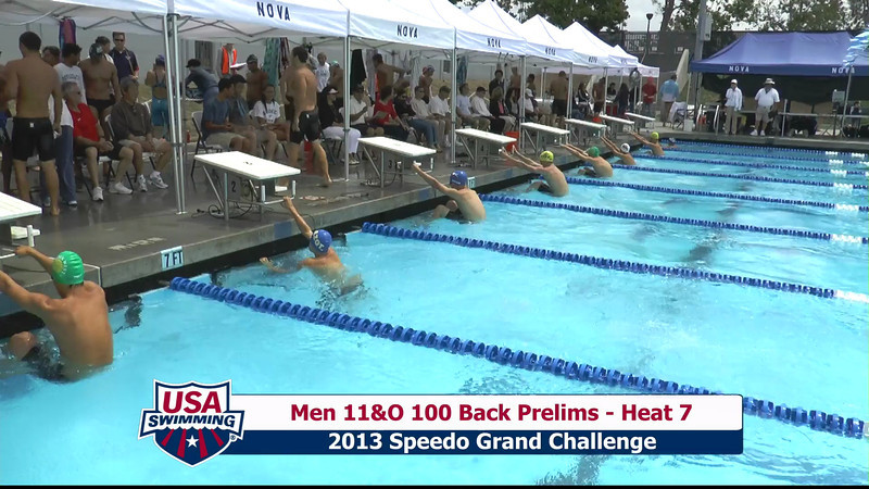 #36 Men 100 Back Heat 8