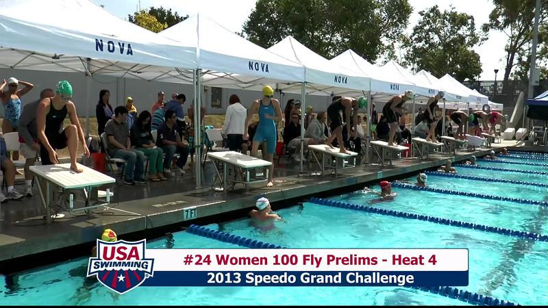 #24 Women 100 Fly Heat 4