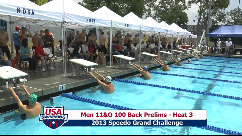 #36 Men 100 Back Heat 5