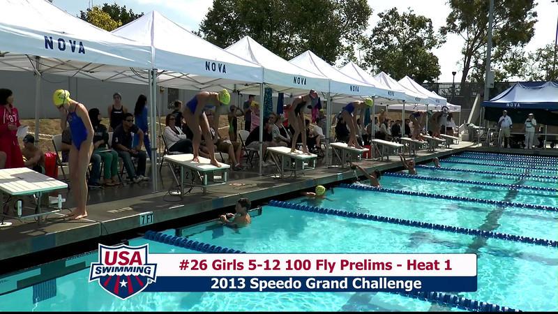 #26 Girls 5-12 100 Fly Heat 1