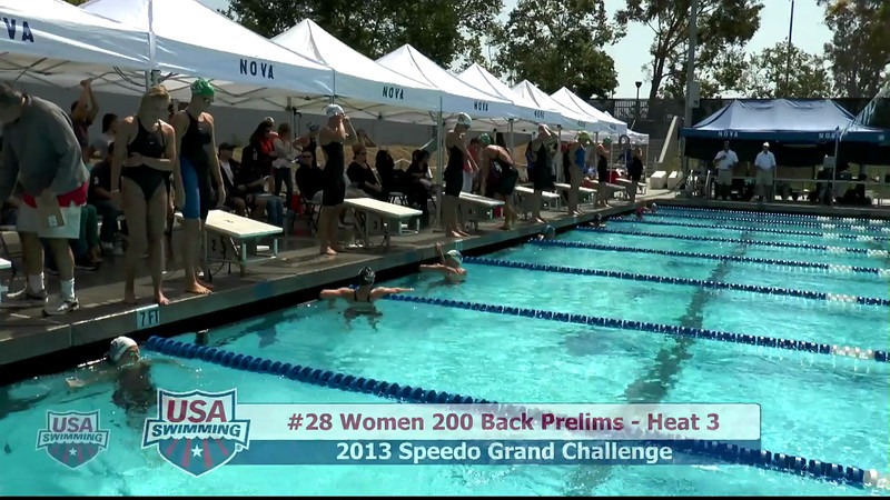 #28 Women 200 Back Heat 3