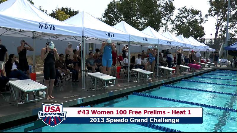 #43 Women 100 Free Heat 1